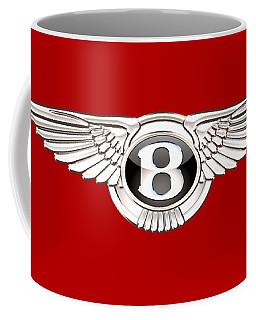 Bentley 3 D Badge On Red Coffee Mug