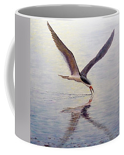 Coffee Mug featuring the painting Black Skimmer by Joe Bergholm
