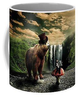 Coffee Mug featuring the digital art Berlin Bear by Nathan Wright