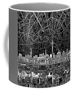 Berlin City Skyline Abstract 4 Coffee Mug by Bekim Art