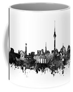 Berlin City Skyline Black And White Coffee Mug by Bekim Art
