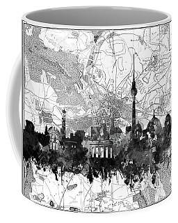 Berlin City Skyline Vintage 2 Coffee Mug by Bekim Art