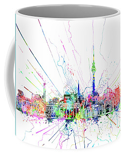 Berlin City Skyline Watercolor 2 Coffee Mug by Bekim Art