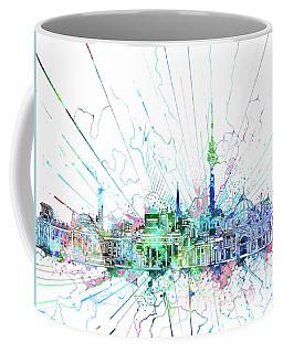 Berlin City Skyline Watercolor 3 Coffee Mug by Bekim Art