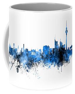 Berlin Germany Skyline Blue Signed Coffee Mug