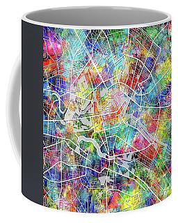 Berlin Map Watercolor Coffee Mug by Bekim Art