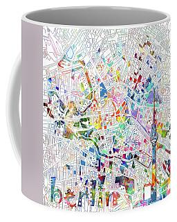 Berlin Map White Coffee Mug by Bekim Art