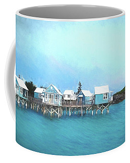 Coffee Mug featuring the photograph Bermuda Coastal Cabins by Luther Fine Art