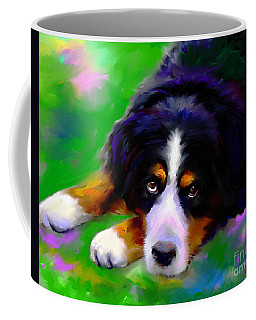 Bernese Mountain Dog Portrait Print Coffee Mug