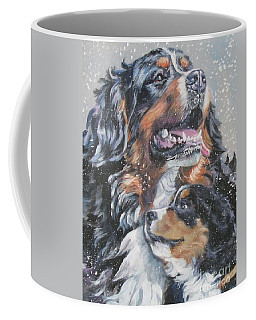 Bernese Mountain Dog With Pup Coffee Mug