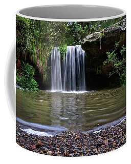 Coffee Mug featuring the photograph Berowra Waterfall by Werner Padarin