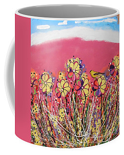 Berry Pink Flower Garden Coffee Mug