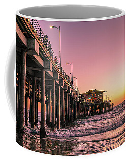 Coffee Mug featuring the photograph Beside The Pier By Mike-hope by Michael Hope