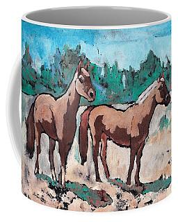 Best Friends Coffee Mug by Ruth Kamenev