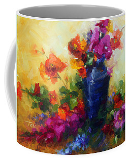 Coffee Mug featuring the painting Best Friends by Talya Johnson