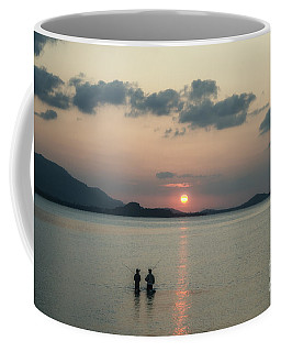 Coffee Mug featuring the photograph Best Time For Fishing by Michelle Meenawong