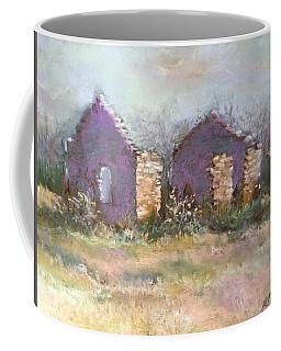 Coffee Mug featuring the pastel Bethel School At Sunset by Rebecca Matthews