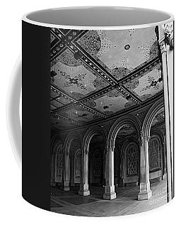 Bethesda Terrace Arcade In Central Park - Bw Coffee Mug