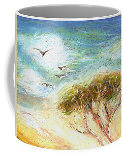 Coffee Mug featuring the drawing Betty's Tree by Denise Fulmer