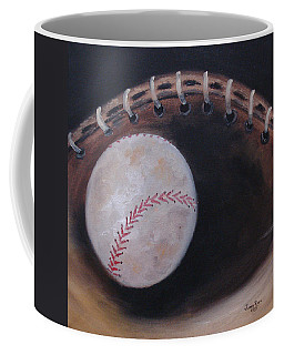 Coffee Mug featuring the painting Between Innings by Judith Rhue