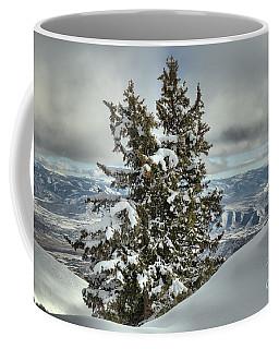 Between Mountains And Snow Drifts Coffee Mug