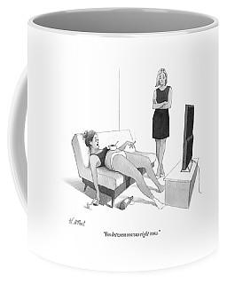 Between Reasons Right Now Coffee Mug