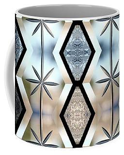 Coffee Mug featuring the digital art Beveled Glass Design by Ellen Barron O'Reilly