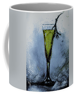 Coffee Mug featuring the mixed media Beverage With A Twig by Lisa Kaiser
