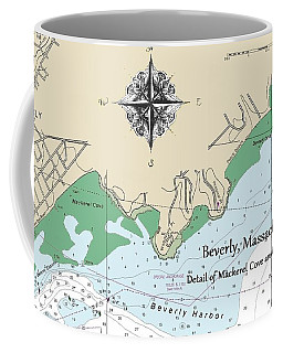 Beverly Cove Nautical Map Coffee Mug
