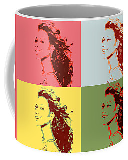 Beyonce Pop Art Panels Coffee Mug
