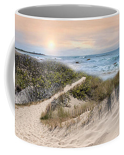 Coffee Mug featuring the photograph Beyond The Dunes by Robin-Lee Vieira