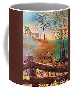 Coffee Mug featuring the painting Beyond The Gate by Denise Tomasura