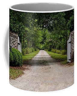 Beyond The Gate Coffee Mug by Linda Brown