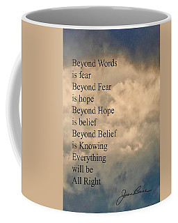 Coffee Mug featuring the painting Beyond Words by Joan Reese