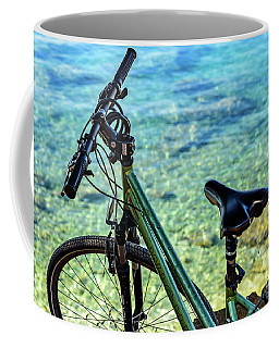 Bicycle By The Adriatic, Rovinj, Istria, Croatia Coffee Mug