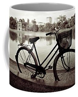 Bicycle By The Lake Coffee Mug