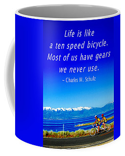 Bicycle Charles M Schulz Quote Coffee Mug