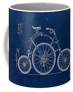 Bicycle From 1899 - Blue Coffee Mug