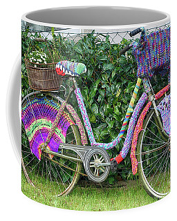 Bicycle In Knitted Sweater Coffee Mug