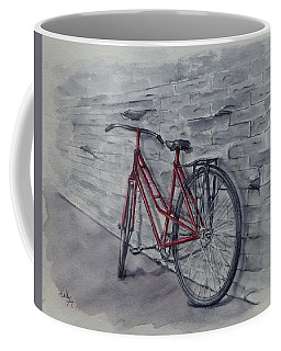 Bicycle In Red Coffee Mug