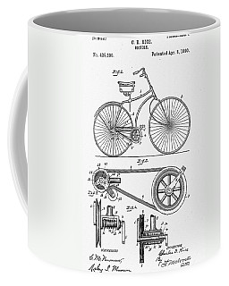 Bicycle Patent 1890 Coffee Mug by Bill Cannon