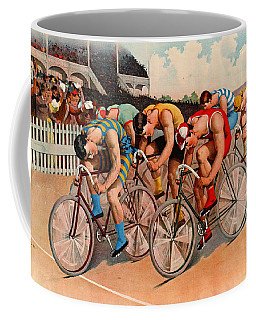 Bicycle Race 1895 Coffee Mug by Padre Art