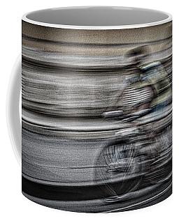 Bicycle Rider Abstract Coffee Mug