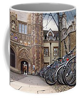 Bicycles At Trinity College Cambridge Coffee Mug by Gill Billington