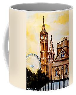 Big Ben And London Eye - Art By Dora Hathazi Mendes Coffee Mug by Dora Hathazi Mendes