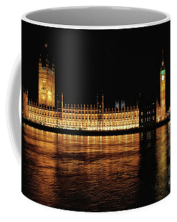 Big Ben And The Palace Of Westminster At Night Coffee Mug
