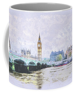 Big Ben And Westminster Bridge London England Coffee Mug