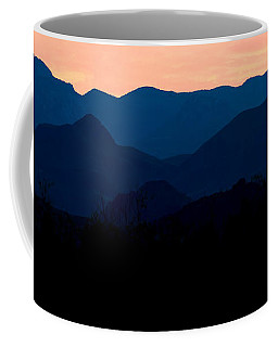 Big Bend Orange Blue Layers Coffee Mug