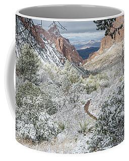Big Bend Window With Snow Coffee Mug