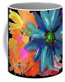 Big Blue Flower Coffee Mug
